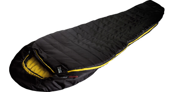 High Peak Pak 1000 Sleeping Bag schwarz/curry